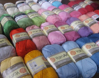 100% mercerized cotton, yarn for knitting, crochet yarn, cotton yarn, BEGONIA yarn art, summer yarn, yarn for sale, cotton yarn online