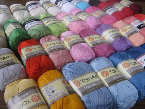 ... cotton yarn, BEGONIA yarn art, summer yarn, yarn for sale, cotton yarn