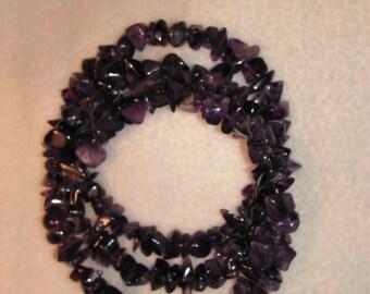 Amethyst Coil Bracelet