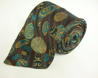 1950s Vintage tie,BELLAGIO, Jacquard, Stripped, Mens necktie, Made in CANADA, Excellent!!!!!