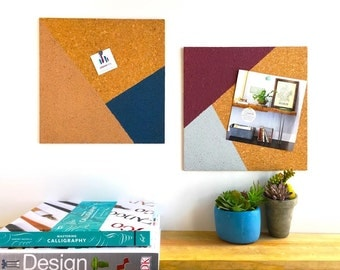 Modern Cork Boards - Cork Memo Boards - Rose Gold, Navy, Burgundy, and Gray - Modern Office Decor - Dorm Room Decor - Office Organization