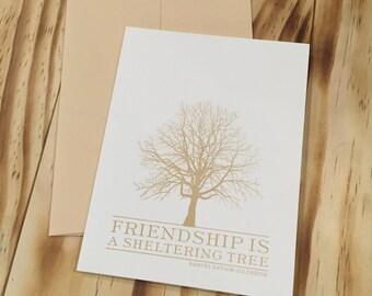 Friendship Letterpress Card