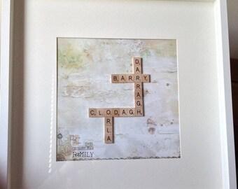 Scrabble Family Frame