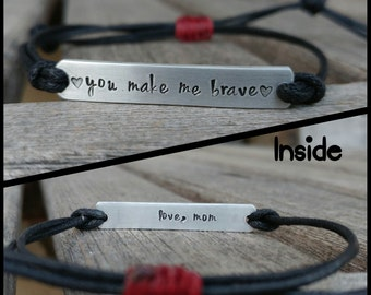 NEW- Double sided, Custom Hand Stamped Bracelet, friendship bracelet, Custom Name Jewelry, Quote Bracelet, Gift Idea, bulk stamped bracelets