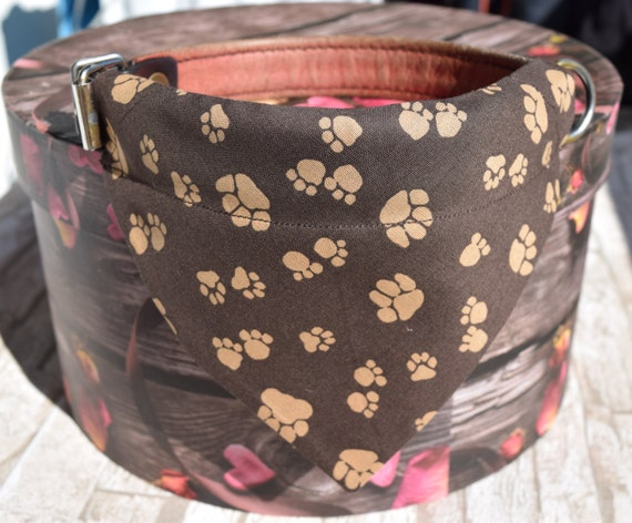 "Bandana ""Fawn Paws"" Bandanas for small or medium sized dogs cats, Fox retro vintage"