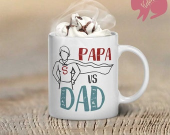 """Coffee Mug, """"Papa Vs. Dad"""", Father's Day Gift, Coffee Cup, Cup For Dad, Birthday Gift"""