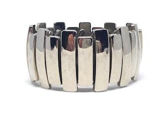 Alluring  Cllassic Expansion Silver Tone Vintage Estate Bracelet