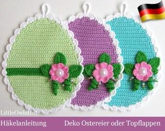 066DE Häkelanleitung - Deko Ostereier oder Topflappen Pdf Zabelina Etsy