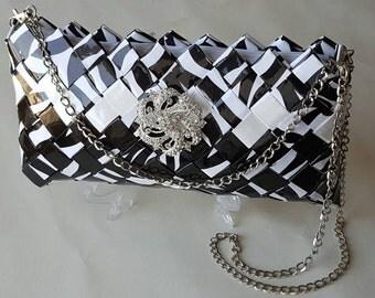 Dalmatians Handbag/ Disney's Bag, Handmade Bag, paper Bag,clutch, Peruvian Bag, Eco Bag,Cruella De Vil Bag, Recycled Magazine Bag, Inca Bag.