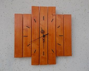 Modern Wood Wall Clock, Modern Decor, Modern Wood Decor, Home Decor, Handmade Wall clock, Wood Clock,  Inexpensive Gift, Gift Idea