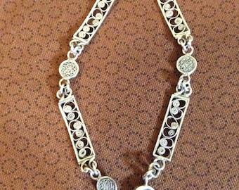 800 silver filagree bracelet