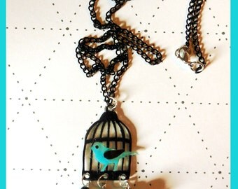 """Necklace """"open open the cage bird"""""""