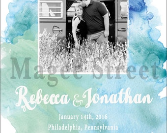 Watercolor Frame Save the Date PDF