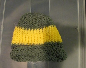 Green and Yellow Adult Hat
