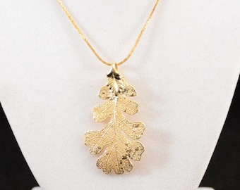 Gold Leaf Pendant On Chain, Leaf Pendant Chain, Gold Chain Leaf Pendant       J668,