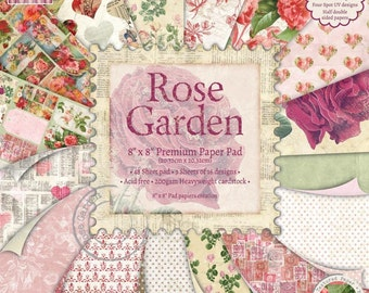 First Edition Rose Garden – 8x 8 Papers