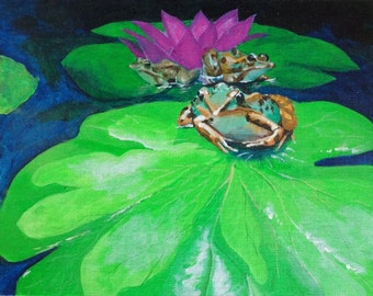 Lily pad with Frogs