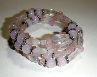 Wrap Bracelet - Memory Wire Bracelet - Beaded Bracelet - Boho Bracelet - Beaded Wrap Bracelet - Bracelet