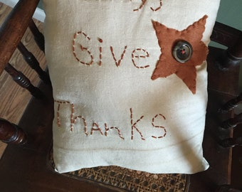 Always Give Thanks accent pillow