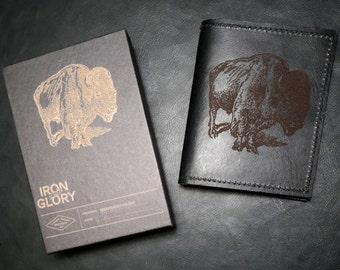 Heavy Cowhide Leather Wallet/Registration Holder