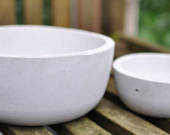Concrete Bowl - Smooth edged