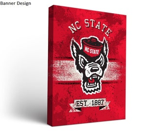 North Carolina State NC State Wolfpack Canvas Wall Art