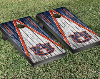 Auburn University Tigers Cornhole Game Set Triangle Designs