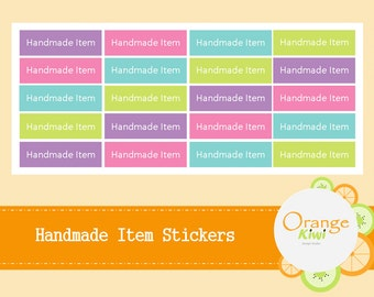 Handmade Item Sticker - Product Stickers - Package Label
