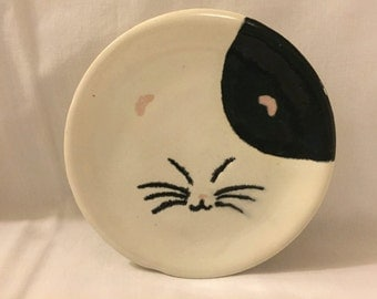 Handmade Ceramic Small Kitty Plate