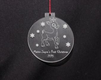 Personalised Rudolph Tree Decoration