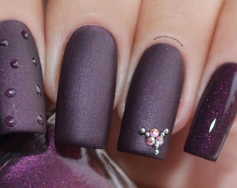 "P•O•P Polish Indie Nailpolish Nail Mirror ""Rushmore"" Matte Smoke & Mirrors Collection"