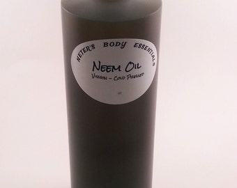 Neem Oil - Virgin - Cold Pressed  for skincare, hair care and soap making 16 oz (1 lb)