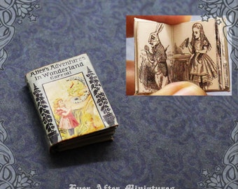 Alice in Wonderland Dollhouse Miniature Book –12th Scale OPENABLE Alice in Wonderland Miniature Book Dollhouse Story Book Printable DOWNLOAD