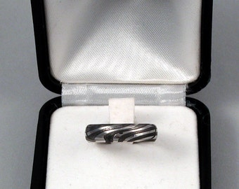 Ring Stainless steel Damask