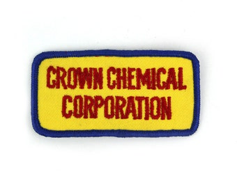 Crown Chemical Corporation Vintage Patch