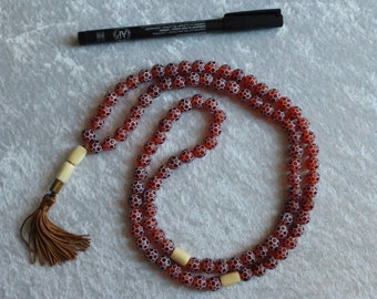 Necklace, woman, meditative, coral,