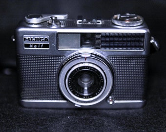 Vintage Fujica Half Automatic Electric Eye Camera with Case F2.8  - 1960's #61