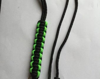 Paracord lanyard with safety clip for keys or ID | Lanyard | gift ideas | for him | Green | ID Holder | Key Chain | Paracord | Gift | Black