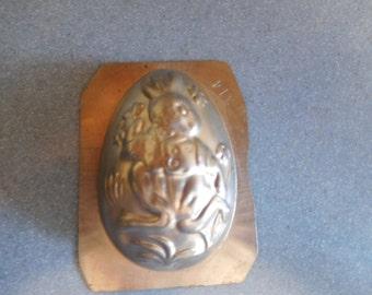 Easter Half Egg #314 Vintage Metal Candy Mold