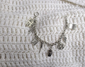 Charm Bracelet, Bracelet, SPN inspired, Fandom Inspired, Fandom Gift, Fangirl Gift, Birthday Gift