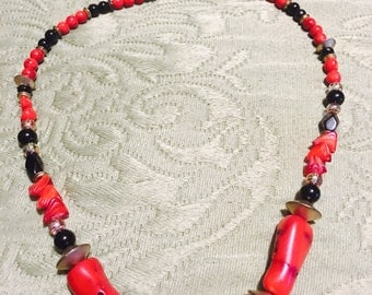 Red & Black Fashion Necklace