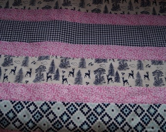 Baby Girl Quilt - Pink and Navy