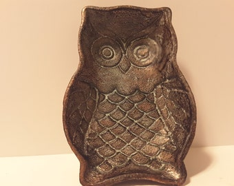Owl metal tray