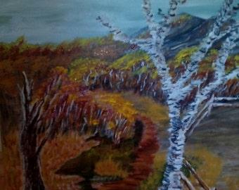 Autumn birch landscape