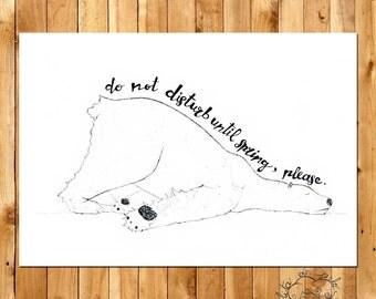"""Print """"Dormiloso bear"""" - Limited Edition"""