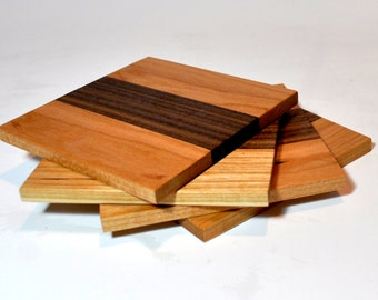 Maple - Walnut Coasters