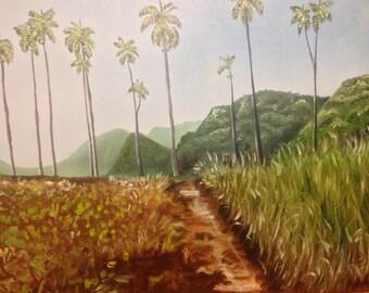 """Landscape Valle de Viñales oil on canvas 12""""x16"""""""