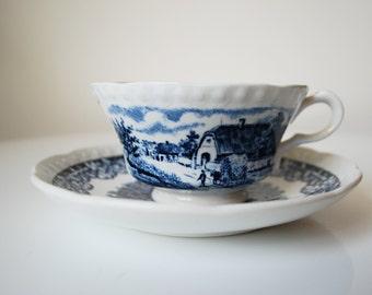 Societe ceramique maestricht Boerenhoeve Dutch Farm Cup and Saucer Set