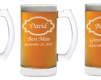 Wedding Party Groomsmen Beer Mugs Perfect for the groomsmen gift!!
