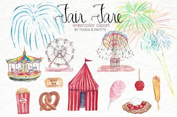 Watercolor Clip Art - Carnival - Fair - Instant Download ...
